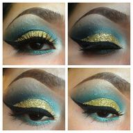 Glitter #oogmake-up