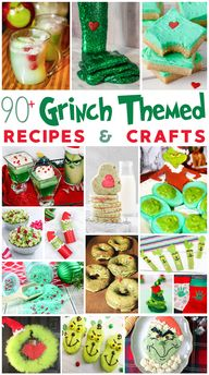 90+ Grinch Themed Recipes and Crafts for the Holidays