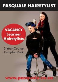 To Have a Successful Hairdressing Career join the Pasquale Staff as a Learner Hairdresser. For more info go to www.pasquale.co.za. Click on Learnership Vacancies. To Print Application Form go to bottom of the page and Click - Learner Application for Employment PDF - Print - Complete document - email to pasquale@mweb.co.za or Phone 011 391 6421 or 011 391 3105/6.