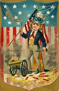Vintage Americana. 4th of July