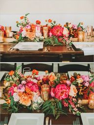 gold and pink tables