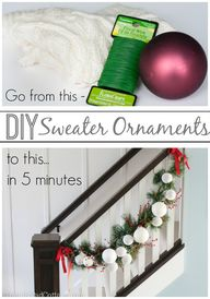 DIY Sweater Ornament
