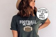 Football Mama Shirt, Game Day Vibes Shirt, Game Day Shirt, Game Day Apparel, Football Mama Shirts, Leopard Print Football Shirt