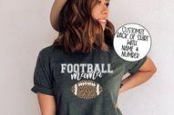Football Mama Shirt, Game Day Vibes Shirt, Game Day Shirt, Game Day Apparel, Football Mama Shirts, Leopard Print Football Shirt