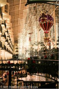 Add this to your Southern bucket list- See the Christmas lights at the Opryland Hotel in Nashville, TN.