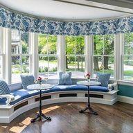 Curved Window Seat Design Ideas