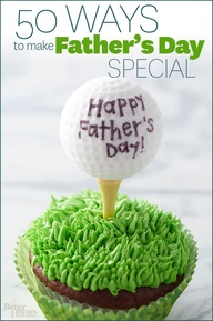 From mouthwatering burgers to handmade Father's Day gifts, these great ideas will make Dad feel extra special! http://www.bhg.com/holidays/fathers-day/50-ways-to-celebrate-fathers-day/?socsrc=bhgpin053113dadsday