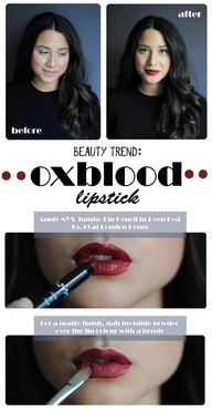 How-To: Oxblood Lips...