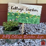 DIY Cottage Garden Sign - lovemycottage