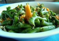 green bean and mango