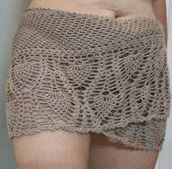 Beach Cover-Up / Shawlette: Free Crochet Pattern - Silk & Wool