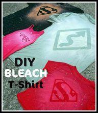 DIY Bleach T Shirt T