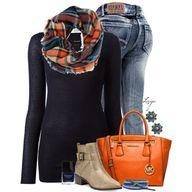 Orange & Blue Plaid,...