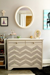 Chevron Hand Paint D