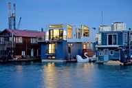 houseboats in a row