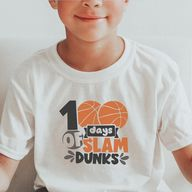 100 Days of School Ideas Shirts Boys, Basketball 100 Days Shirt, 100 Days of School Shirt Boys, 100 Days of School Basketball Shirt, Slam Dunkin 100 Days Shirt, Boys 100 Days of School Shirt