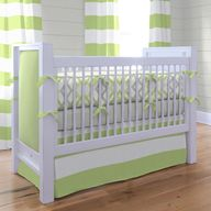 Kiwi & Gray Crib Bed