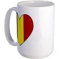 Romanian Flag Heart