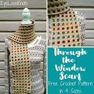 Through the Window Scarf – Free Crochet Pattern