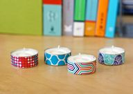 washi tape tealights