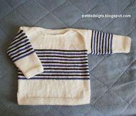 Cest une pull marin dont les épaules se croisent sur le dessus (pull à emmanchures américaines). Les enfants et les mamans aiment bien ce ...