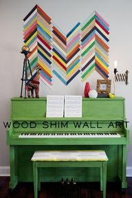 Wood Shim Wall Art {