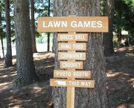 TALL LAWN Games Sign