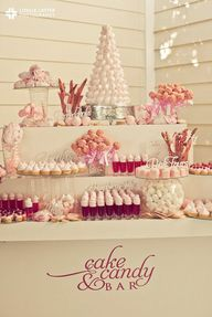 cake and candy bar