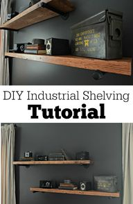 DIY Industrial Shelv