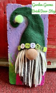 DIY Garden Gnome Brick Door Stop - lovemycottage