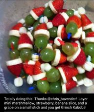 Grinch kabobs - kids...