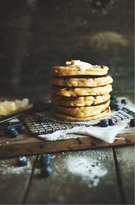 ... blueberry pancak