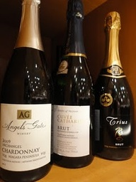 a few sparkling wine
