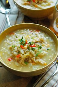 chicken and rice sou