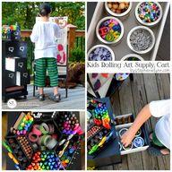 Kids Art Supply Cart