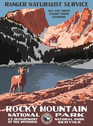 Rocky Mountain National Park Poster - Ford Craftsman Studios