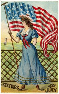 Fresh Vintage by Lisa S: Vintage Postcards for the 4Th oh July