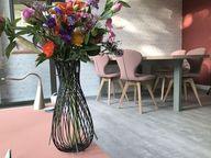 Studio STYLING22 voor interieuradvies op maat. In dit interieur is gekozen voor zachte pasteltinten. Verf van Painting the Past behang van Rebelwalls via www.styling22.nl.rw.nu #kleuradvies #interieuradvies #interieurstylist #styling #wooninspiratie #newhome #kleurinspiratie #interior #livingroom #interieur #interieuradvies #woonkamer #pastelkleur #pasteltinten #rebelwalls
