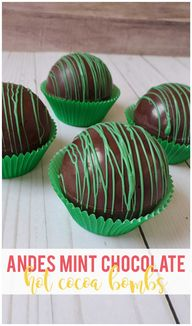 Andes Mint Chocolate Hot Cocoa Bombs - Sunshine and Munchkins