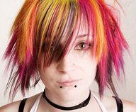 bright crazy hair