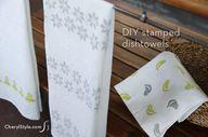 DIY hand-stamped dis