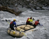 Down the rapids....