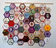 embroidered hexies