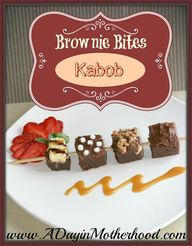 Brownie Bites Kabob