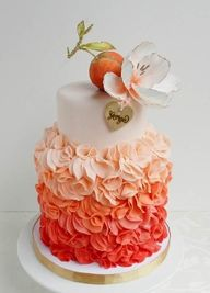 Peach inspired weddi...