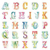 Watercolor Letters D