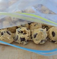 Freeze cookie dough in plastic bags to cook later. Heart as many or as few as you like! Always have fresh cookies in less than 15 minutes.