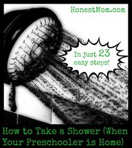 How to take a shower