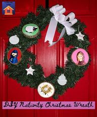 DIY Nativity Christmas Wreath - lovemycottage