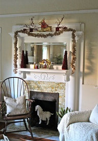 Christmas mantel in